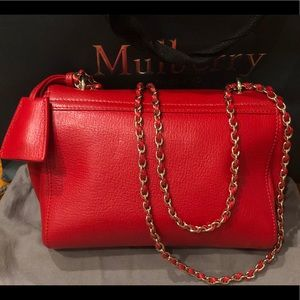 8ad544890ba ... wholesale mulberry bags bright red glossy goat small lily 5813a e2d4d